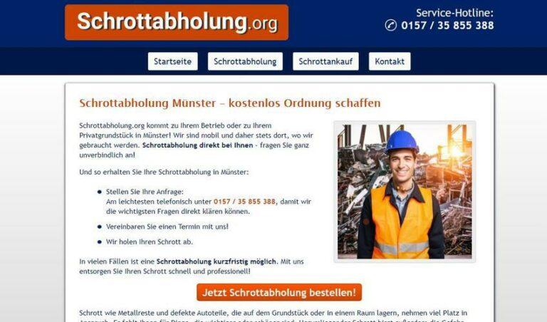 Die Schrottabholung Münster arbeitet hochprofessionell, um Ressourcen dem Rohstoff-Kreislauf verlustfrei wieder zuzuführen