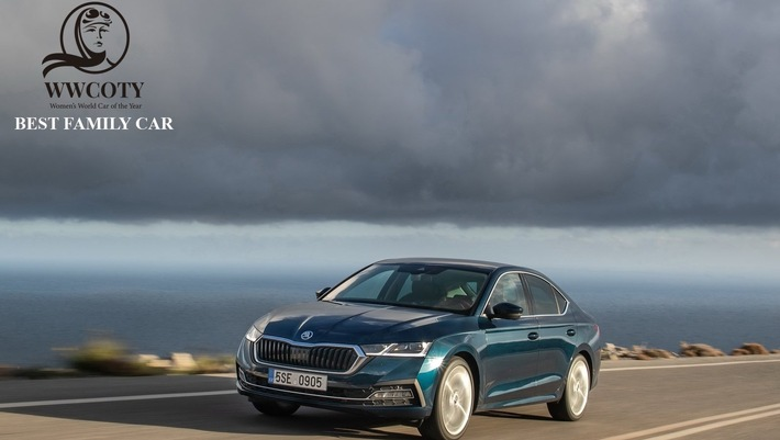 ŠKODA OCTAVIA gewinnt in der Kategorie ,Family Car' beim ,Women's World Car of the Year 2020'-Award