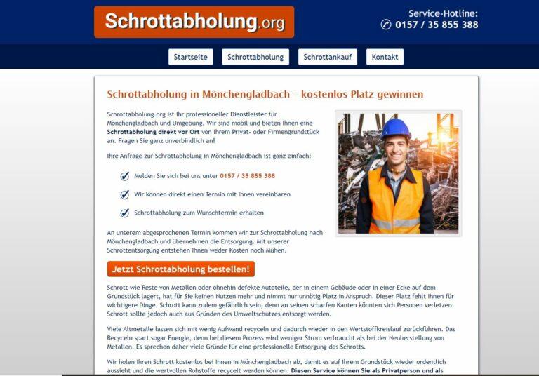 Unkomplizierte Schrottentsorgung durch die Schrottabholung in Mönchengladbach