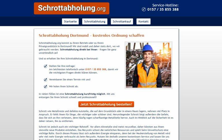 In Dortmund Der lokale Schrotthandel ermöglicht eine kurzfristige Schrottabholung