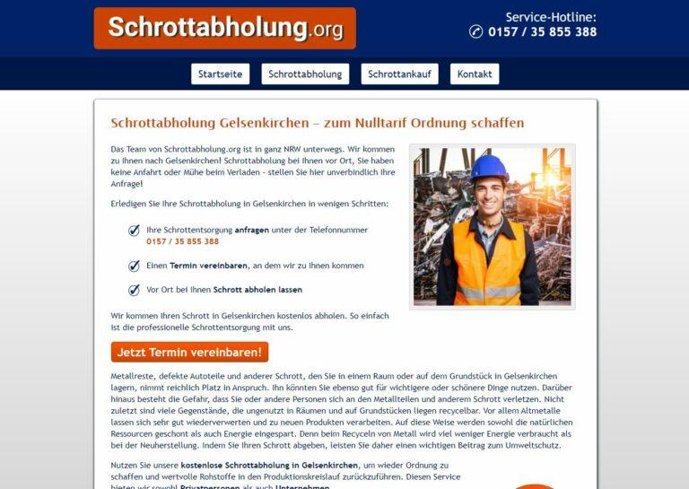 In Gelsenkirchen der mobile Schrotthändler holt Altmetallschrott beim Kunden ab
