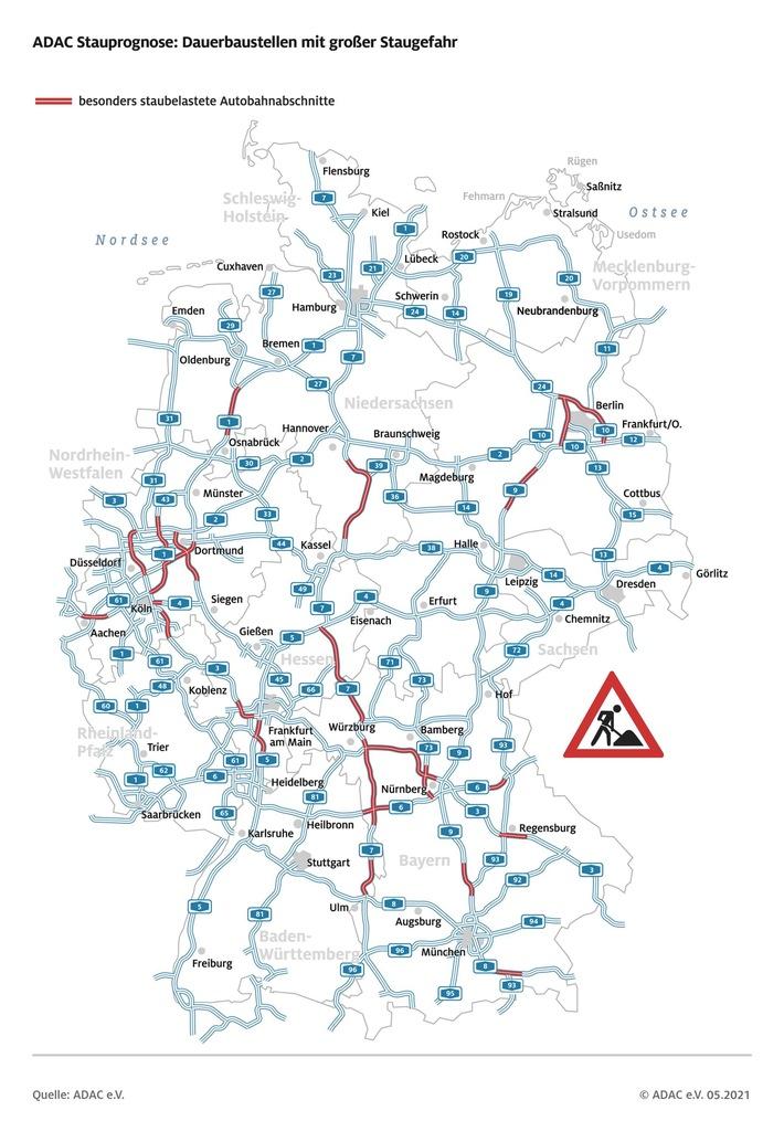 Reiseverkehr nimmt an Pfingsten Fahrt auf ADAC Stauprognose für 21. bis 24. Mai