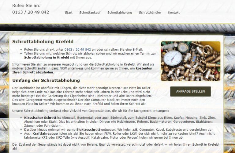 Schrottabholung Krefeld: Wir unterstützen Sie bei der Entsorgung von Altmetall
