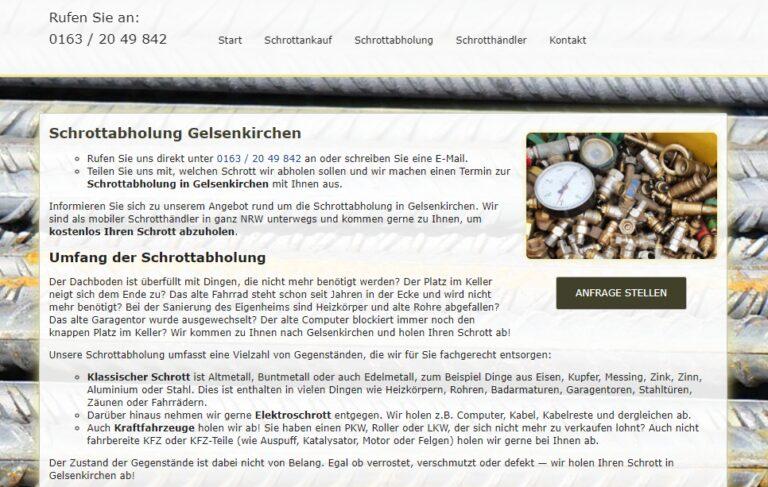 Schrottabholung in Gelsenkirchen : Schrotthandel und Demontage garantiert den Schrottankauf zu aktuellen Tagespreisen