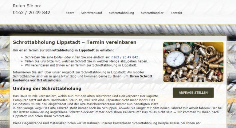 Es werden alle Services rund um das Thema Metallschrott von der Demontage bis zur ordnungsgemäßen Entsorgung angeboten in Lippstadt