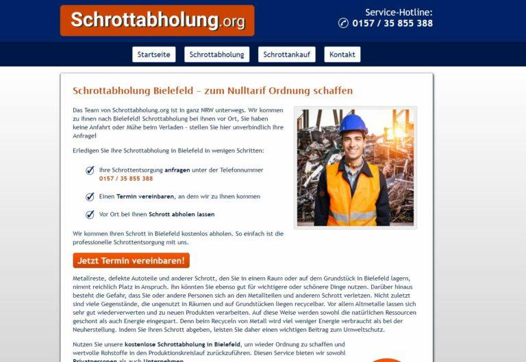 Ein Anruf genügt, damit die Schrottabholung Bielefeld ausrückt, um haushaltsüblichen Mischschrott kostenfrei abzuholen