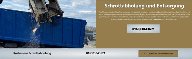 Altmetallentsorgung Bergisch Gladbach sorgt dafür, dass Rohstoffe zurück in den Kreislauf gelangen