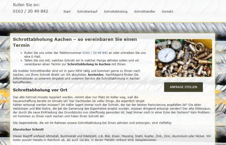 Metall-Recycling und Eisen in Aachen