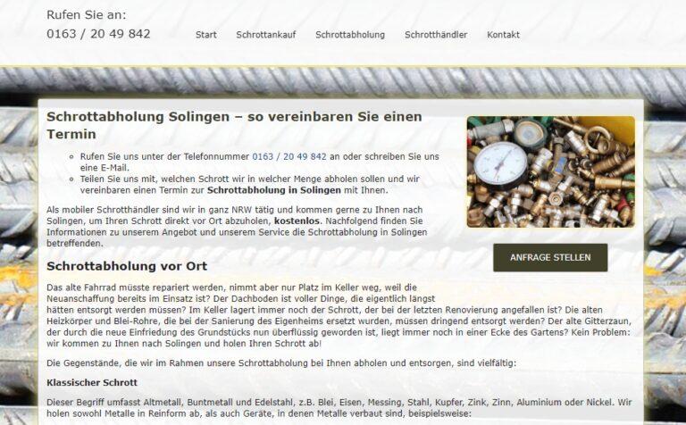Altmetall abholen in Solingen : Wir sind Ihr zuverlässiger Partner für den Ankauf von Altmetall