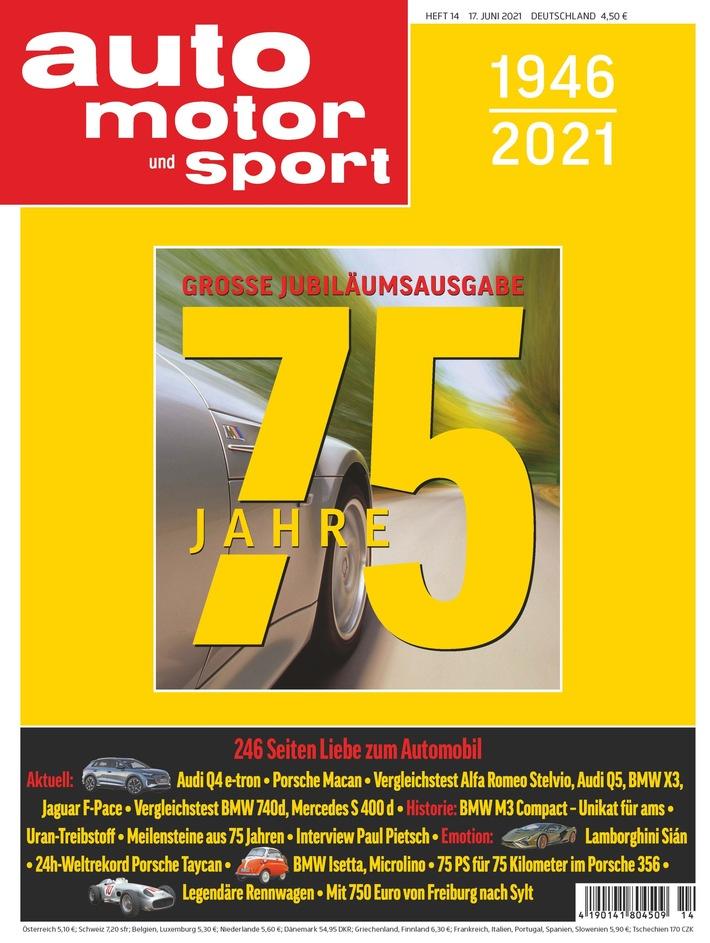 Go for Gold: AUTO MOTOR UND SPORT feiert sein 75-jähriges Jubiläum mit einer ganz besonderen Ausgabe
