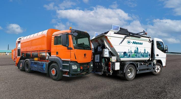 e-Trucks. Neue kooperative Schwerpunkte bei Vertrieb und Service Framo und Schmidt Kommunalfahrzeuge GmbH bauen Vertrieb & Service im Bereich elektrischer Kommunalfahrzeuge aus