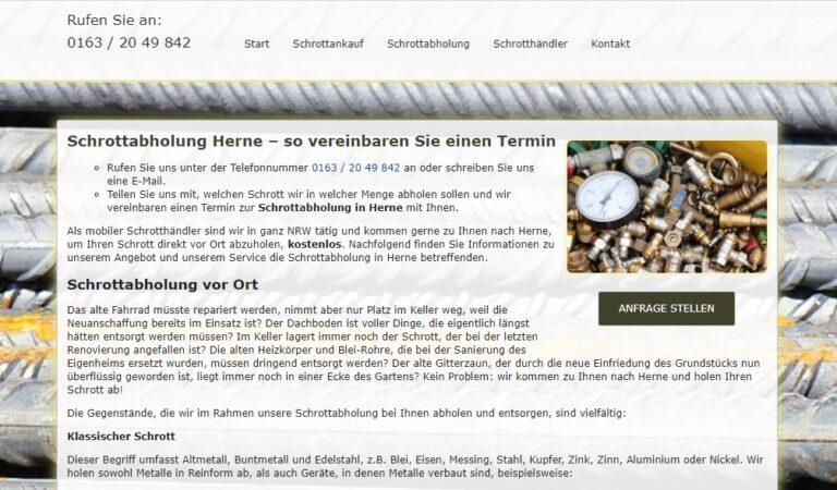 Schrott- und Metallabholung in Herne
