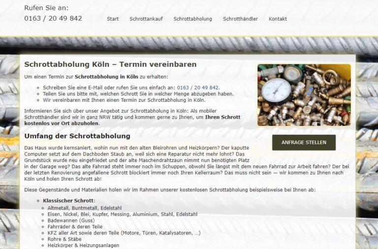Schrottabholung Köln: Schrott Sammlung Ihr Partner für Schrottabholung, Schrott Demontage und Schrott Ankauf