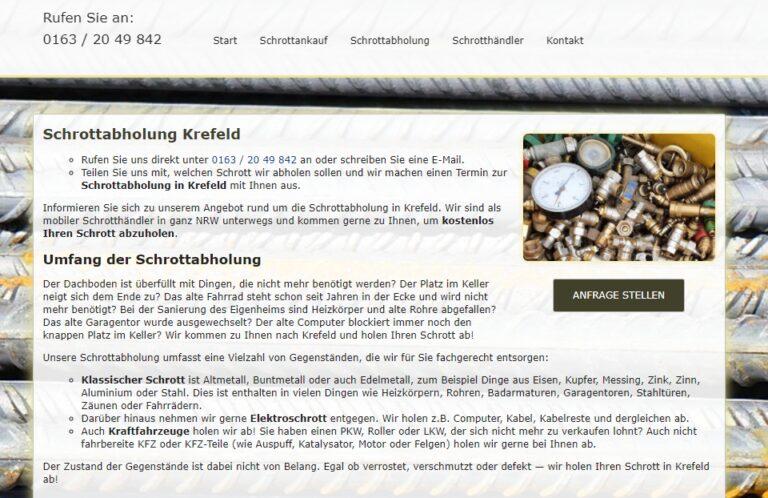 Schrotthandel und Metallhandel in Krefeld und Umland. Wir entsorgen Ihren Schrott – in allen Größenordnungen
