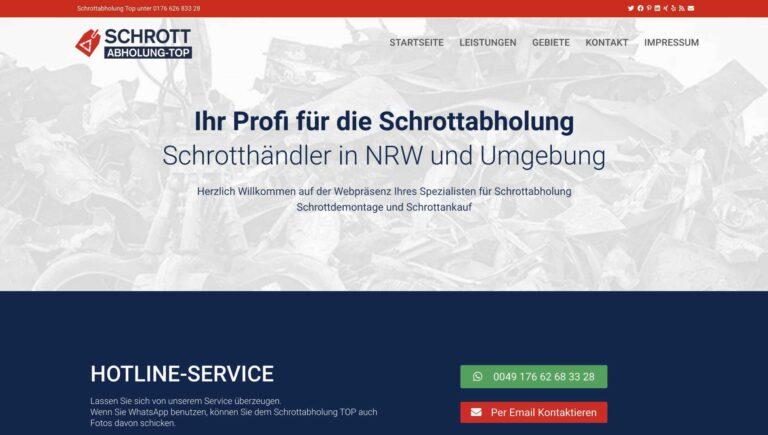 Gewerbliche und private Abholung von Schrott durch Schrottabholung TOP