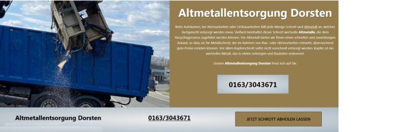 Schrottankauf Hohenlimburg kostenlos, inklusive Demontage