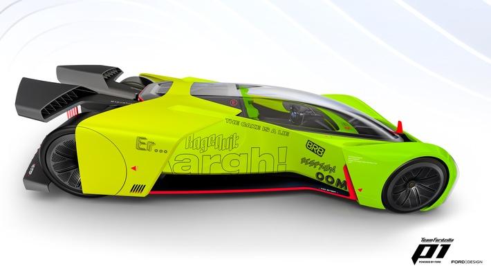 Ford verwandelt P1-Rennwagen in Gaming-Simulator und ruft Community zur Mitwirkung am Supervan-Projekt auf