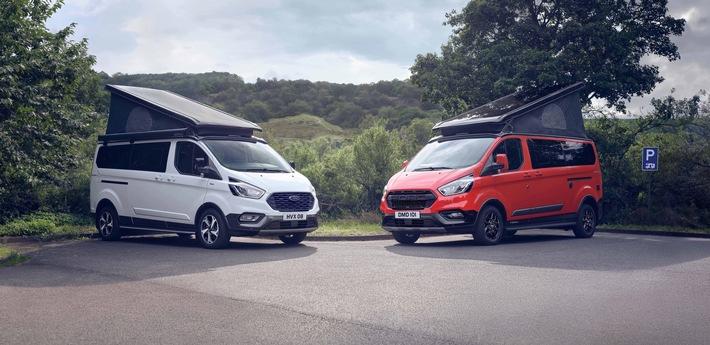 Ford erweitert Nugget Camper-Baureihe um zwei neue Varianten: Active und Trail