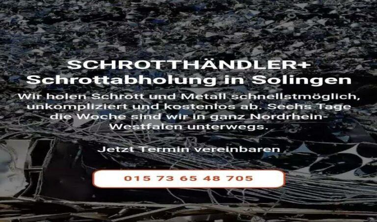 Schrottabholung Solingen für die Kunden kostenlos ihren Metallschrott abholen zu lassen