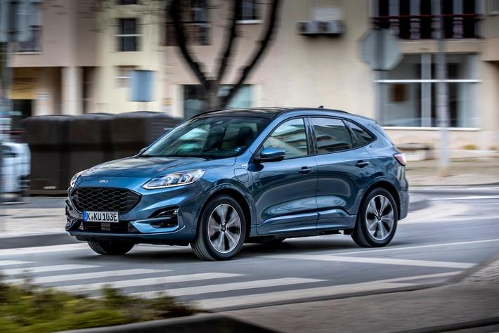 Ford Kuga Plug-in-Hybrid ist europaweiter Verkaufsschlager – fast 50 Prozent der Fahrleistung erfolgt mit Ladestrom