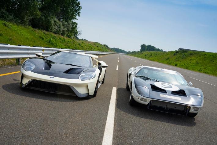 Limitierte Ford GT Heritage Edition huldigt den Ursprüngen der Supersportwagen-Serie und feiert Prototypen von 1964