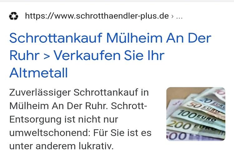 Schrottankauf Mülheim an der Ruhr kauft ihren Schrott zu tagesaktuelle Preise an