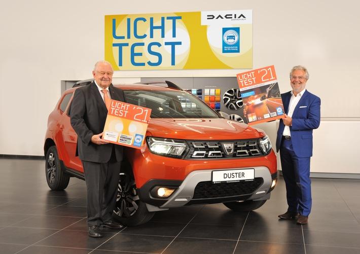 Dacia ist Autopartner beim Licht-Test 2021