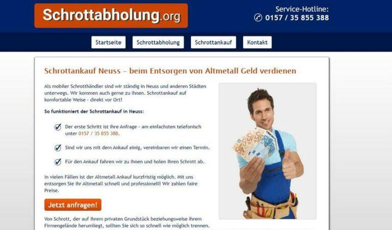 Schrottankauf Neuss- Schrotthändler in Neuss Entsorgung von Schrott mit gutem Service.
