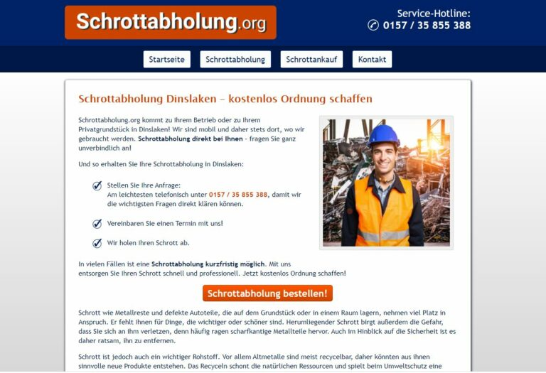 Schrotthändler in Dinslaken: Schrott und Metall loswerden