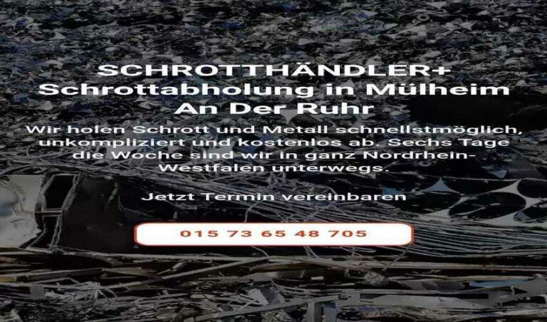 Die Schrottabholung in Mülheim an der Ruhr und das Ruhrgebiet bietet die kostenlose Abholung von Altmetallschrott
