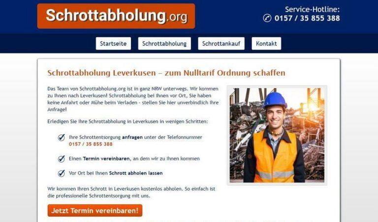 Schrotthändler in Leverkusen helfen Ihnen gerne! Schrottabholung für Privat und Firmenkunden Leverkusen