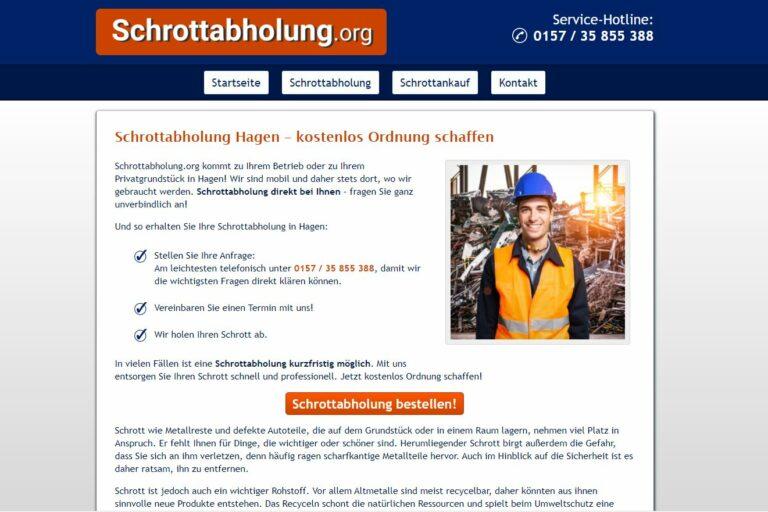 Schrotthändler in Hagen fachgerecht zu entsorgen