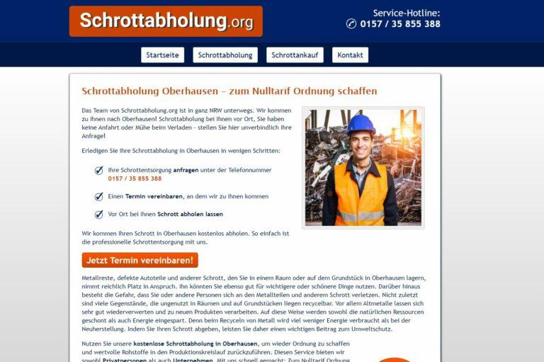 Schrotthändler in Oberhausen von Schrottabholung.org