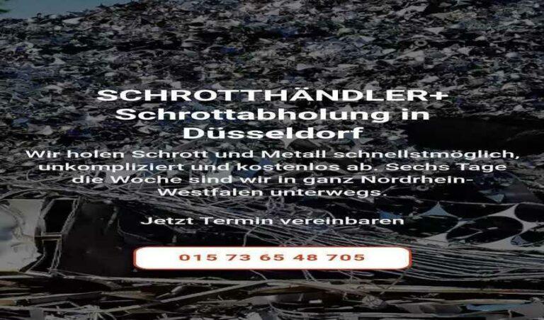 Die Schrottabholung Düsseldorf kostenfrei und unkompliziert Altmetallschrott loswerden