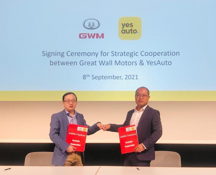 Zur IAA Mobility: YesAuto startet Kooperation mit Great Wall Motors