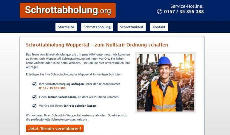 Schrottabholung Wuppertal – holt im Auftrag alte, ausrangierte, gusseiserne Hinterlassenschaften längst vergangener Zeiten bei Ihnen zuhause ab.