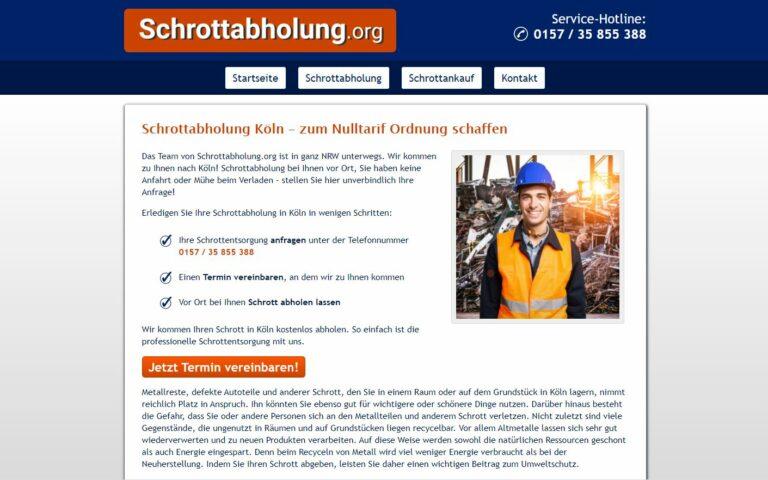 In Köln: Schrottabholung für den Kunden ist die komplette Leistung kostenlos