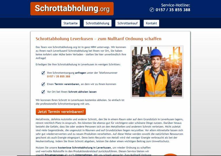 Schrotthändler in Leverkusen Schnelle Abwicklung und transparente Preise