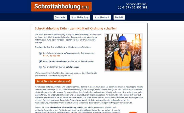 Schrottabholung in Köln: Wir helfen Ihnen gerne weiter!