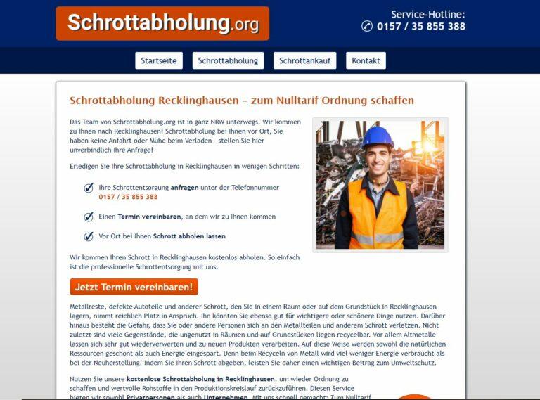 Schrotthändler in Recklinghausen: Einfach Altmetall & Schrott entsorgen