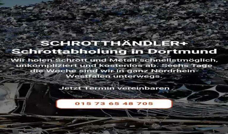 Schrottabholung in Dortmund und Umgebung wir holen schrott kostenlos ab Direkt vor Ort
